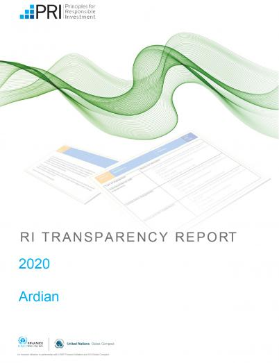 PRI transparency report Ardian 2020